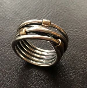Intertwined Rope Ring by Pandora